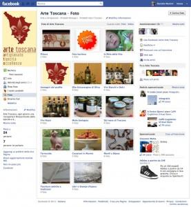 Riepilogo prodotti su pagina Facebook