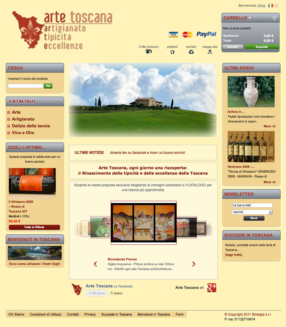 artetoscana.it - Home Page Arte Toscana